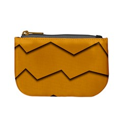 Orange Shades Wave Chevron Line Mini Coin Purses by Mariart