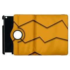 Orange Shades Wave Chevron Line Apple Ipad 3/4 Flip 360 Case by Mariart