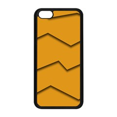 Orange Shades Wave Chevron Line Apple Iphone 5c Seamless Case (black) by Mariart