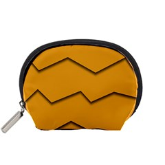 Orange Shades Wave Chevron Line Accessory Pouches (small)  by Mariart