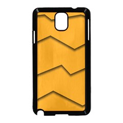 Orange Shades Wave Chevron Line Samsung Galaxy Note 3 Neo Hardshell Case (black) by Mariart