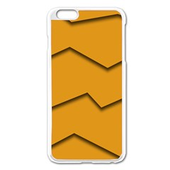 Orange Shades Wave Chevron Line Apple Iphone 6 Plus/6s Plus Enamel White Case by Mariart