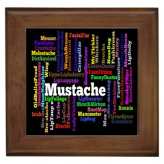 Mustache Framed Tiles by Mariart