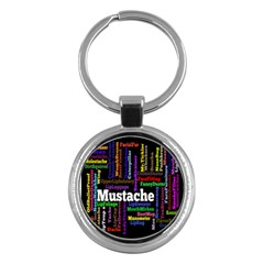 Mustache Key Chains (round)  by Mariart