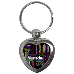 Mustache Key Chains (heart)  by Mariart