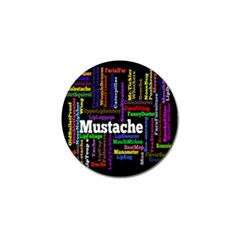 Mustache Golf Ball Marker (4 Pack) by Mariart