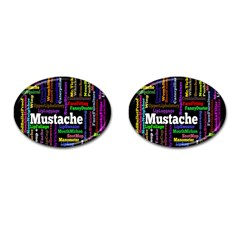 Mustache Cufflinks (oval) by Mariart