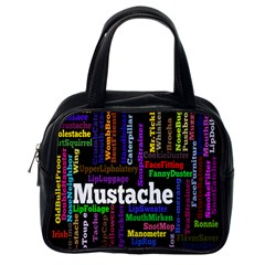 Mustache Classic Handbags (one Side) by Mariart