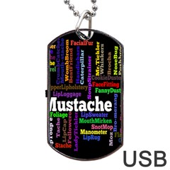 Mustache Dog Tag Usb Flash (two Sides) by Mariart