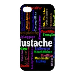 Mustache Apple Iphone 4/4s Premium Hardshell Case by Mariart