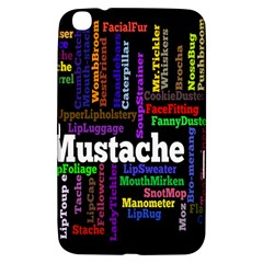 Mustache Samsung Galaxy Tab 3 (8 ) T3100 Hardshell Case  by Mariart