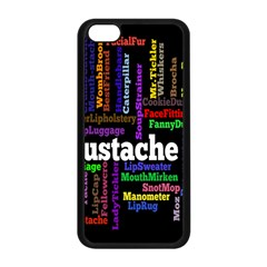 Mustache Apple Iphone 5c Seamless Case (black) by Mariart