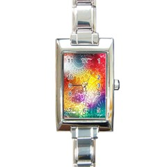 Multi Colour Alpha Rectangle Italian Charm Watch by Mariart