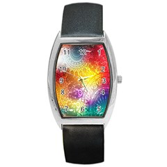 Multi Colour Alpha Barrel Style Metal Watch by Mariart