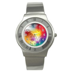 Multi Colour Alpha Stainless Steel Watch by Mariart