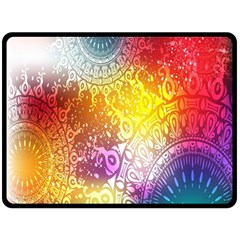 Multi Colour Alpha Double Sided Fleece Blanket (large)  by Mariart