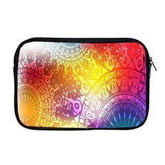 Multi Colour Alpha Apple Macbook Pro 17  Zipper Case