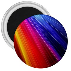 Multicolor Light Beam Line Rainbow Red Blue Orange Gold Purple Pink 3  Magnets by Mariart