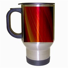 Multicolor Light Beam Line Rainbow Red Blue Orange Gold Purple Pink Travel Mug (silver Gray) by Mariart