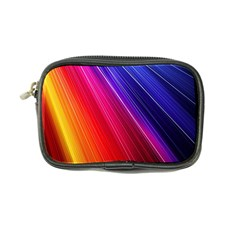 Multicolor Light Beam Line Rainbow Red Blue Orange Gold Purple Pink Coin Purse by Mariart