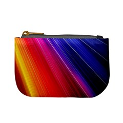 Multicolor Light Beam Line Rainbow Red Blue Orange Gold Purple Pink Mini Coin Purses by Mariart