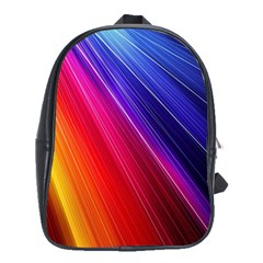 Multicolor Light Beam Line Rainbow Red Blue Orange Gold Purple Pink School Bags(large)  by Mariart