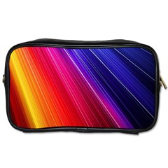 Multicolor Light Beam Line Rainbow Red Blue Orange Gold Purple Pink Toiletries Bags by Mariart