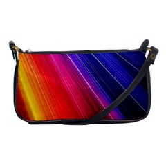 Multicolor Light Beam Line Rainbow Red Blue Orange Gold Purple Pink Shoulder Clutch Bags by Mariart
