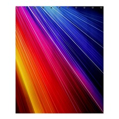 Multicolor Light Beam Line Rainbow Red Blue Orange Gold Purple Pink Shower Curtain 60  X 72  (medium)  by Mariart