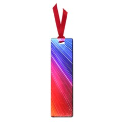 Multicolor Light Beam Line Rainbow Red Blue Orange Gold Purple Pink Small Book Marks by Mariart