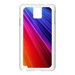 Multicolor Light Beam Line Rainbow Red Blue Orange Gold Purple Pink Samsung Galaxy Note 3 N9005 Case (white) by Mariart