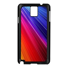 Multicolor Light Beam Line Rainbow Red Blue Orange Gold Purple Pink Samsung Galaxy Note 3 N9005 Case (black) by Mariart