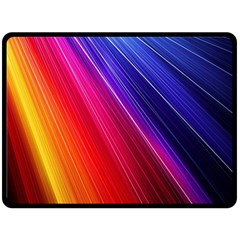 Multicolor Light Beam Line Rainbow Red Blue Orange Gold Purple Pink Double Sided Fleece Blanket (large)  by Mariart