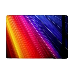 Multicolor Light Beam Line Rainbow Red Blue Orange Gold Purple Pink Ipad Mini 2 Flip Cases by Mariart