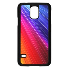 Multicolor Light Beam Line Rainbow Red Blue Orange Gold Purple Pink Samsung Galaxy S5 Case (black) by Mariart