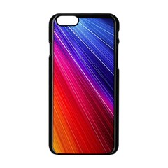 Multicolor Light Beam Line Rainbow Red Blue Orange Gold Purple Pink Apple Iphone 6/6s Black Enamel Case by Mariart