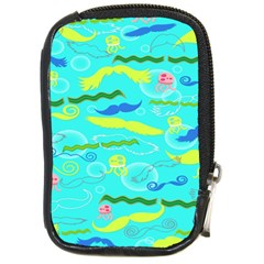 Mustache Jellyfish Blue Water Sea Beack Swim Blue Compact Camera Cases by Mariart