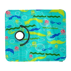 Mustache Jellyfish Blue Water Sea Beack Swim Blue Galaxy S3 (flip/folio) by Mariart