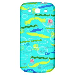 Mustache Jellyfish Blue Water Sea Beack Swim Blue Samsung Galaxy S3 S Iii Classic Hardshell Back Case by Mariart