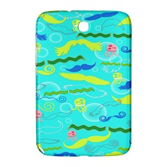 Mustache Jellyfish Blue Water Sea Beack Swim Blue Samsung Galaxy Note 8 0 N5100 Hardshell Case  by Mariart