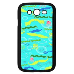 Mustache Jellyfish Blue Water Sea Beack Swim Blue Samsung Galaxy Grand Duos I9082 Case (black)
