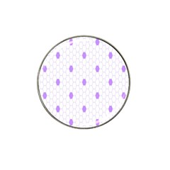Purple White Hexagon Dots Hat Clip Ball Marker (10 Pack) by Mariart