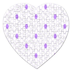 Purple White Hexagon Dots Jigsaw Puzzle (heart) by Mariart