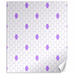 Purple White Hexagon Dots Canvas 20  X 24   by Mariart