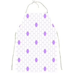 Purple White Hexagon Dots Full Print Aprons by Mariart