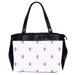 Purple White Hexagon Dots Office Handbags (2 Sides)  by Mariart