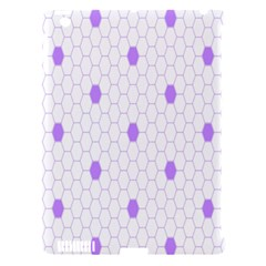 Purple White Hexagon Dots Apple Ipad 3/4 Hardshell Case (compatible With Smart Cover) by Mariart
