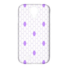 Purple White Hexagon Dots Samsung Galaxy S4 Classic Hardshell Case (pc+silicone) by Mariart