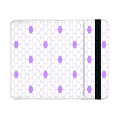 Purple White Hexagon Dots Samsung Galaxy Tab Pro 8 4  Flip Case by Mariart