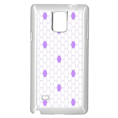 Purple White Hexagon Dots Samsung Galaxy Note 4 Case (white) by Mariart